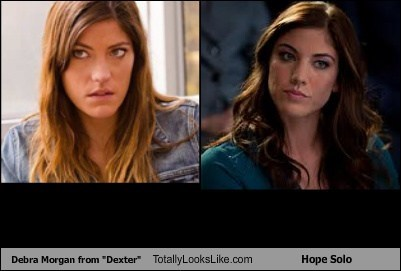 hope solo,totally looks like,debra morgan