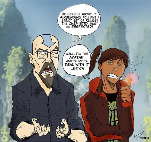 Avatar breaking bad cartoons Fan Art korra - 7937241600