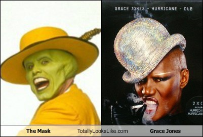 grace jones,totally looks like,the mask