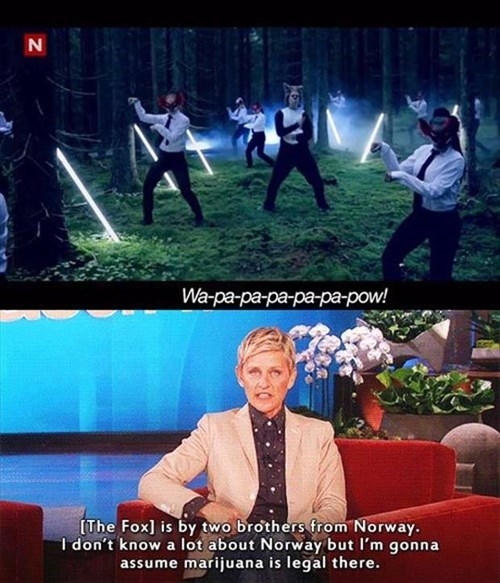 ellen degeneres ellen the fox ylvis what does the fox say - 7937277952
