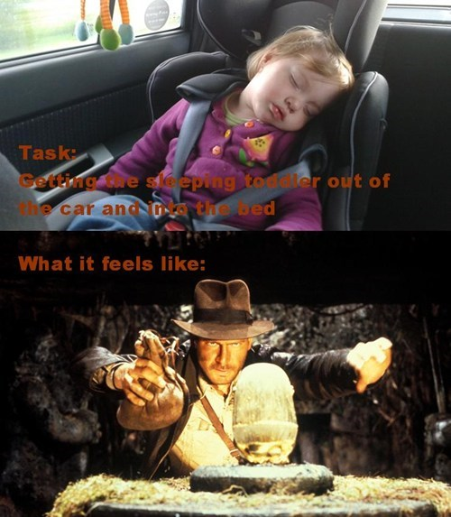 Indiana Jones,naps,parenting,toddlers,car seats,g rated