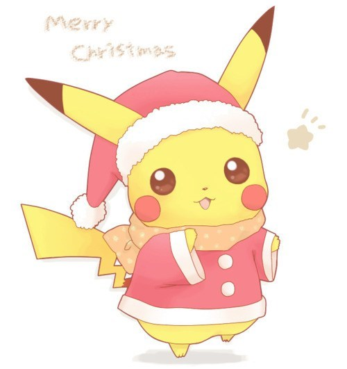 christmas,Fan Art,Pokémon,pikachu
