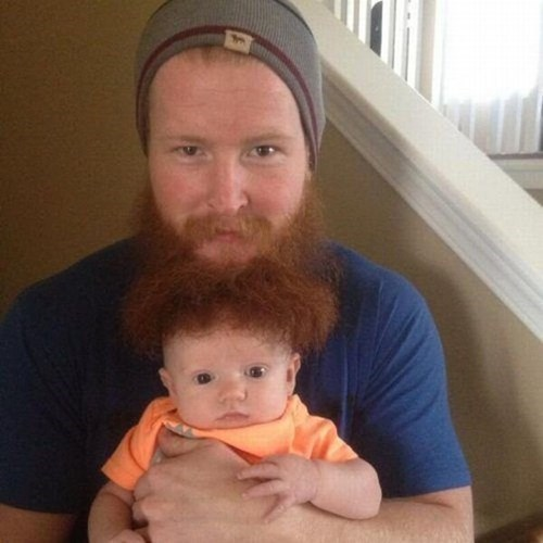 Babies,beards,parenting