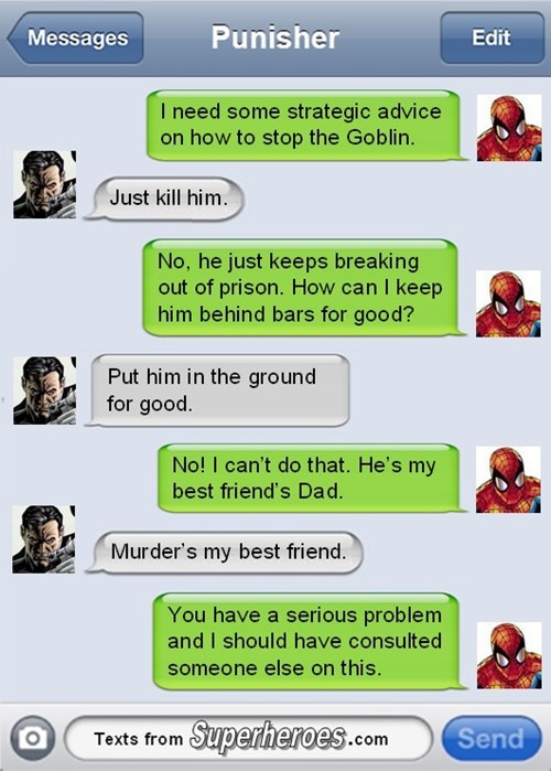 Spider-Man twitter the punisher - 7937882880