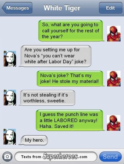 white tiger Spider-Man twitter - 7937890816