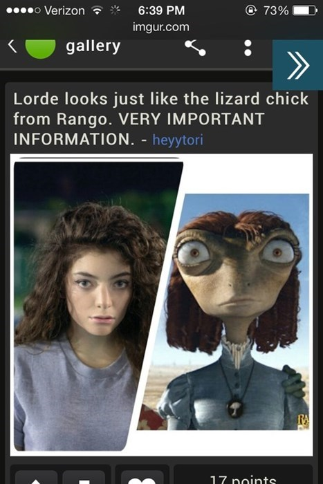 totally looks like rango lorde - 7937941248