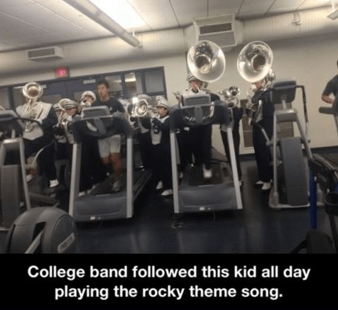 college,marching band,rocky