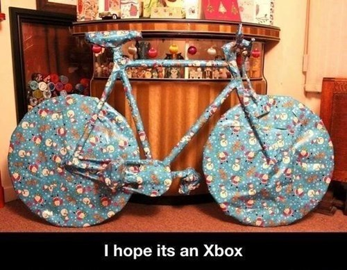 bicycles,christmas,presents,might be a trap