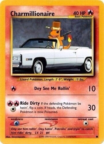 charmander pokemon cards parody see its a parody not a real card