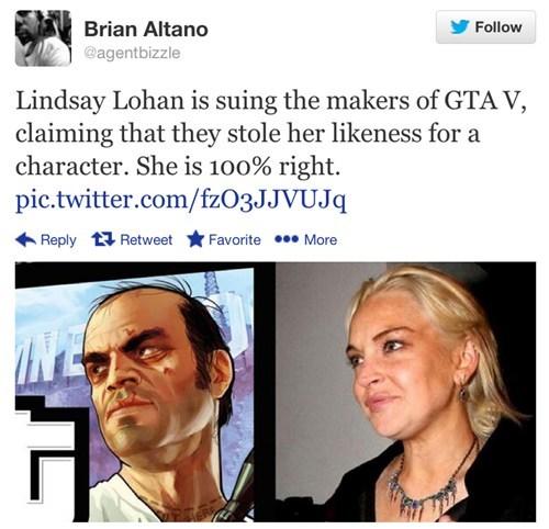 grand theft auto v lindsay lohan Rockstar Games - 7938238464