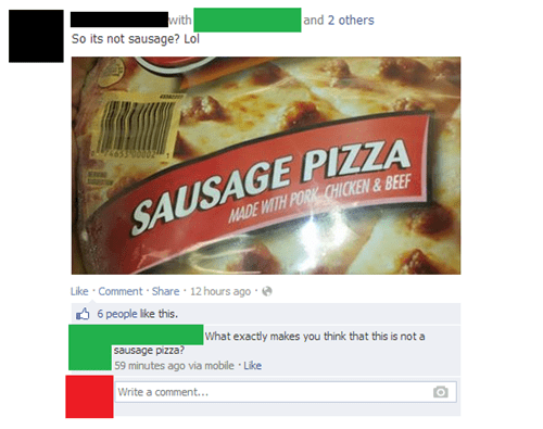pizza sausage pizza - 7938250752