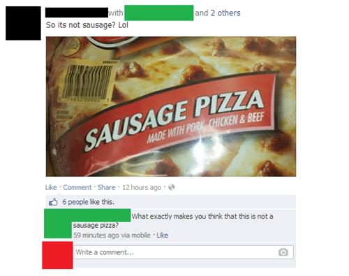 pizza sausage pizza - 7938250752