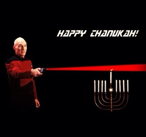 Captain Picard,menorah,Star Trek,hanukkah