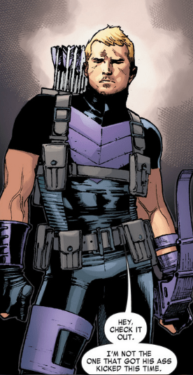off the page hawkeye superhero