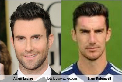 adam levine,totally looks like,liam ridgewell