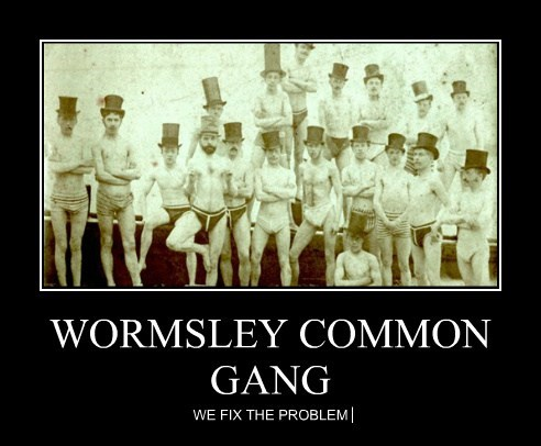 WORMSLEY COMMON GANG WE FIX THE PROBLEM