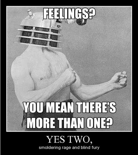 dalek doctor who emotions funny - 7939493376