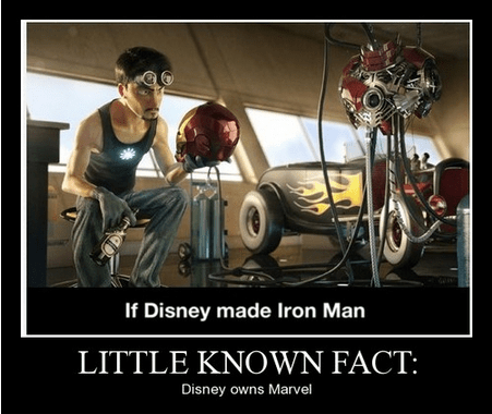disney production iron man funny