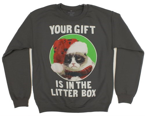 christmas Grumpy Cat sweater g rated poorly dressed