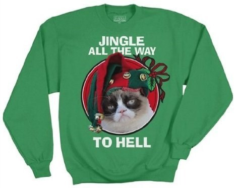 christmas,Grumpy Cat,sweater