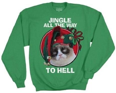 christmas Grumpy Cat sweater - 7939534080