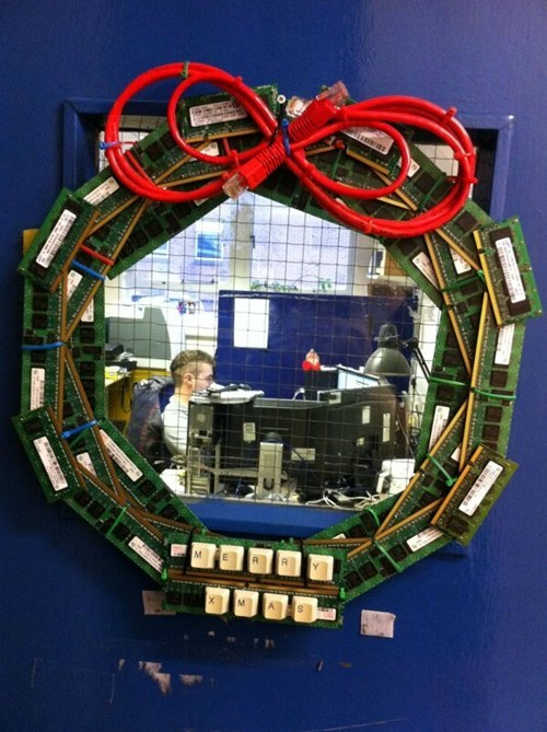 computers,ethernet cable,there I fixed it,wreaths