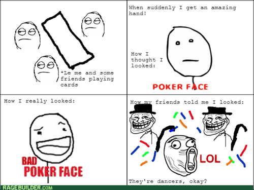 card games bad poker face friends poker face trollface - 7939600128