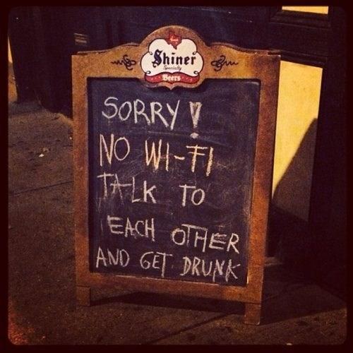 chalkboard bar drink funny wi-fi - 7939628032