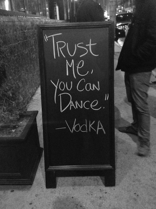 bar dancing funny sign vodka - 7939673344