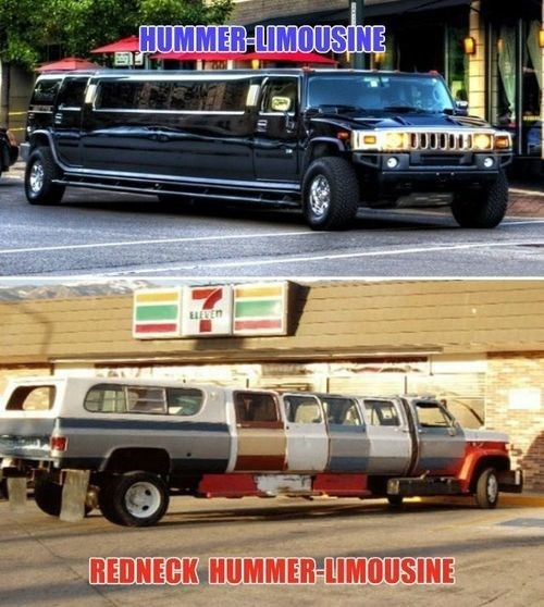 rednecks,vehicle,limousines