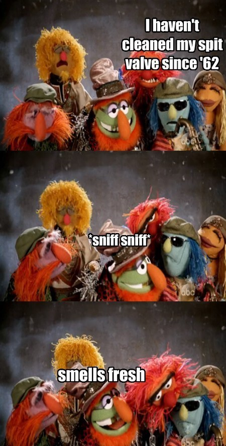 electric mayhem,saxophone,muppets