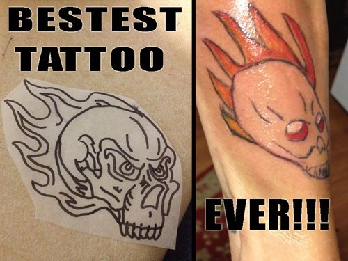 bad fire tattoos g rated Ugliest Tattoos
