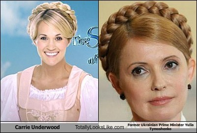 carrie underwood,totally looks like,yulla tymoshenko