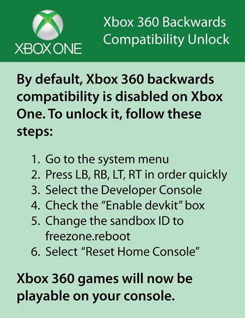 How to unlock backwards compatibility on xBox One - Screenshot