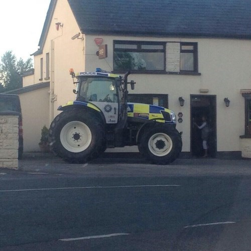 police,tractors