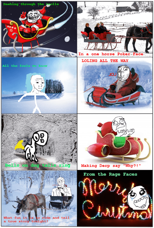 christmas,jingle bells,rage faces