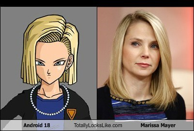 android 18 totally looks like marissa mayer