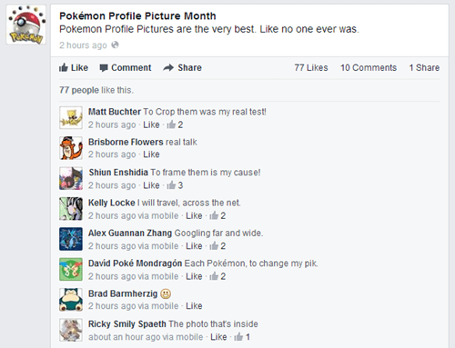 Pokémon,facebook,pokemon profile picture month