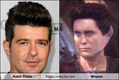 robin thicke totally looks like Star Trek weyoun - 7940986880