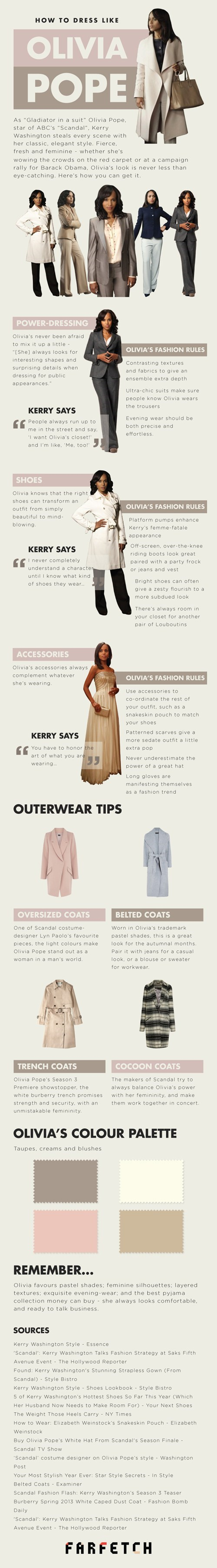 fashion infographic scandal television Olivia Pope