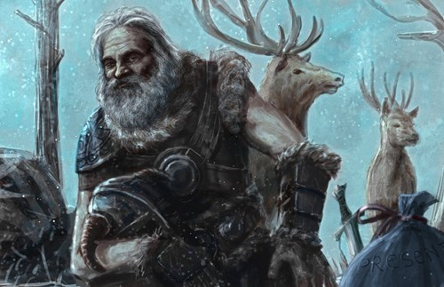 christmas,Fan Art,Skyrim,santa