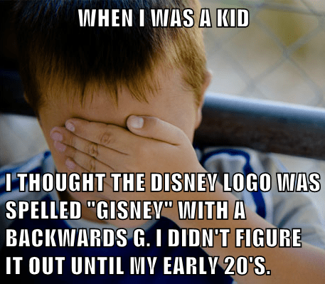 disney Memes fonts confession kid - 7941056512