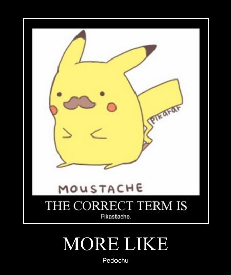 funny mustache Pokémon pikachu - 7941089792
