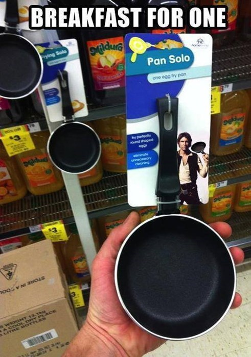 food breakfast Han Solo puns star wars