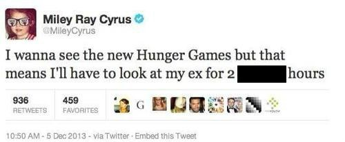 ex,hunger games,miley ray cyrus