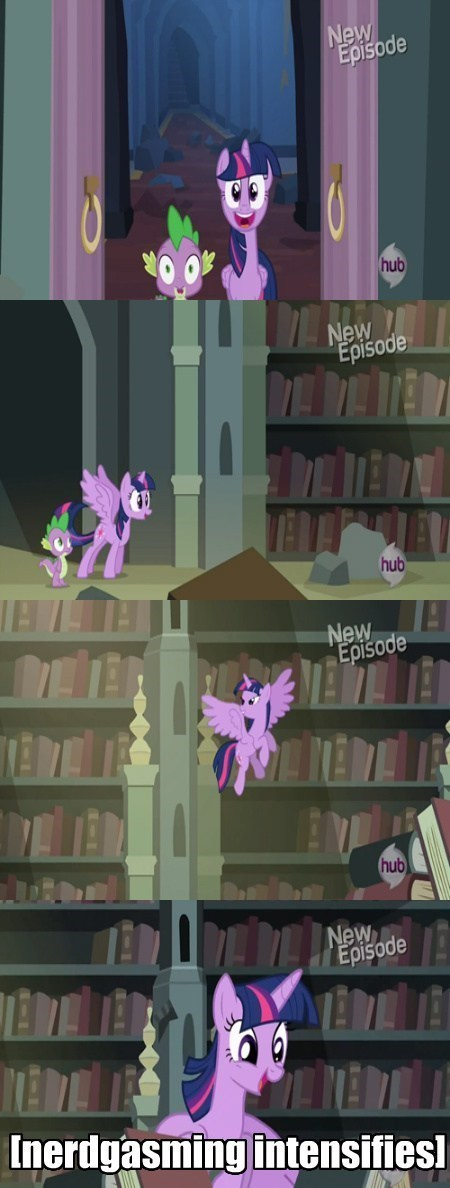 twilight sparkle nerdgasm library - 7941460224