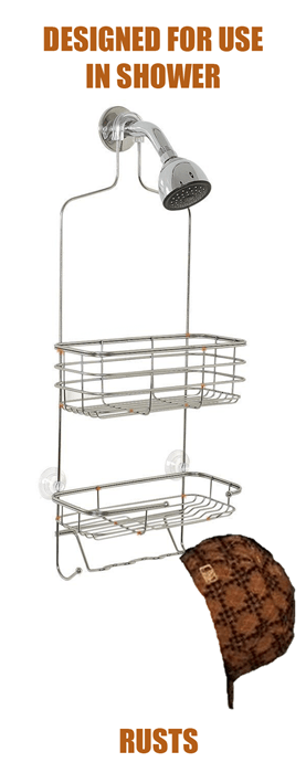 scumbags shower racks