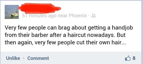 forever alone,what a twist,fapping,barbers