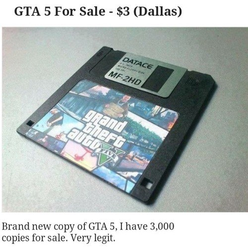 floppy disks GTA V