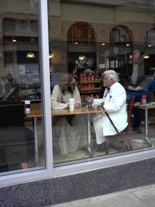 colonel sanders jesus kfc g rated win - 7941778432